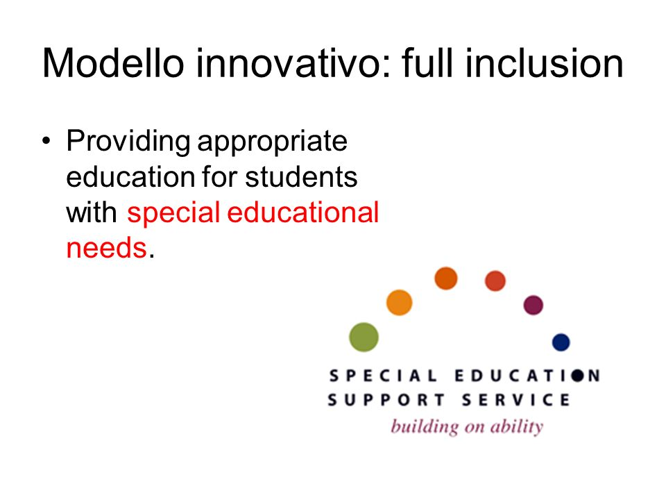 Modello innovativo: full inclusion