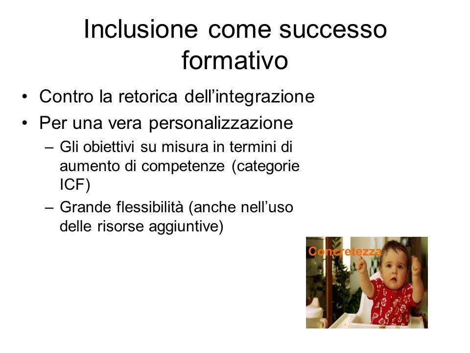 Inclusione come successo formativo