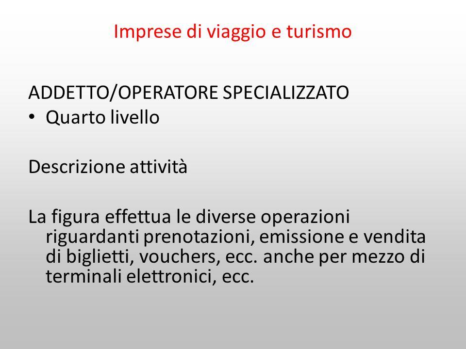 Imprese di viaggio e turismo