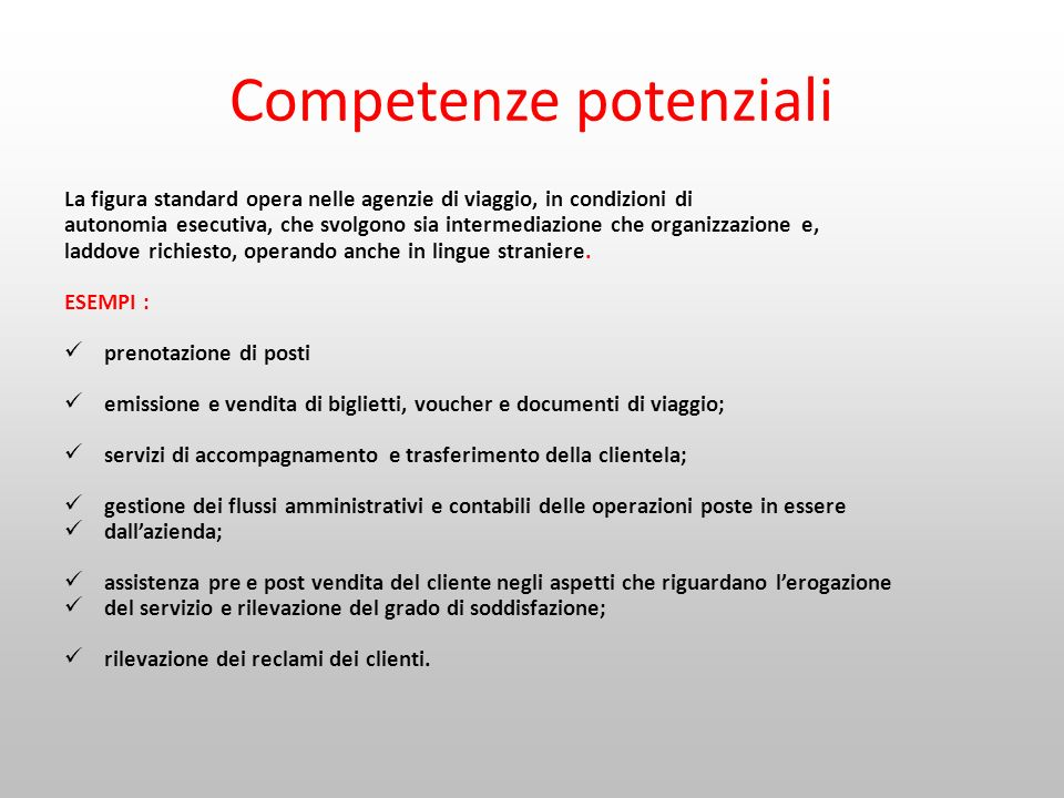 Competenze potenziali