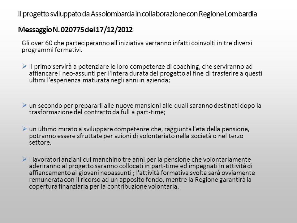 Il progetto sviluppato da Assolombarda in collaborazione con Regione Lombardia