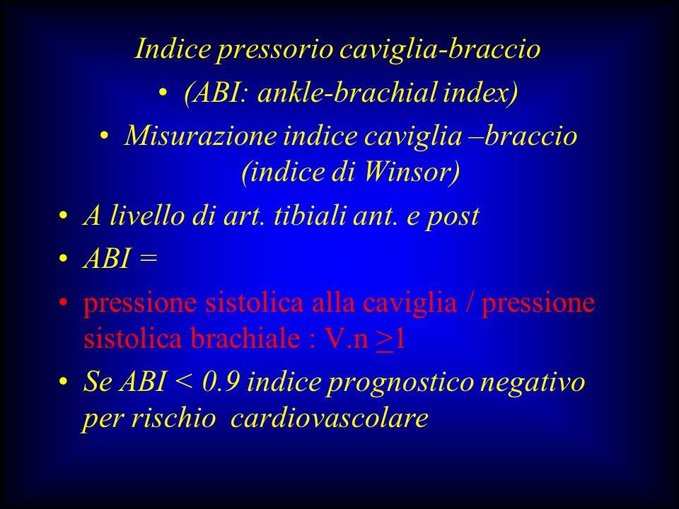 Indice pressorio caviglia-braccio (ABI: ankle-brachial index)
