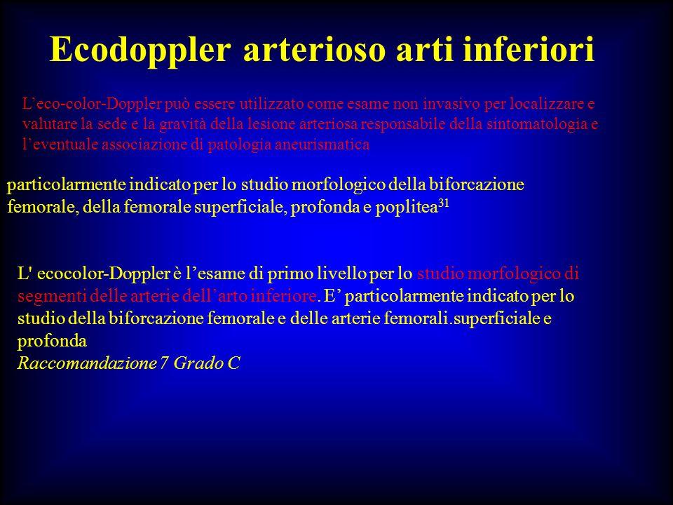 Ecodoppler arterioso arti inferiori