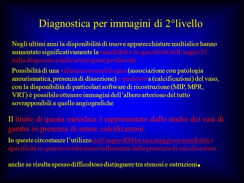 Diagnostica per immagini di 2°livello