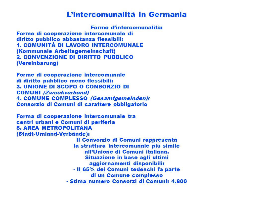 L'intercomunalità in Germania