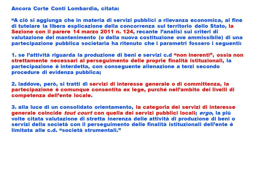 Ancora Corte Conti Lombardia, citata: