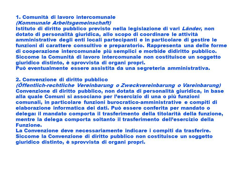 1. Comunità di lavoro intercomunale