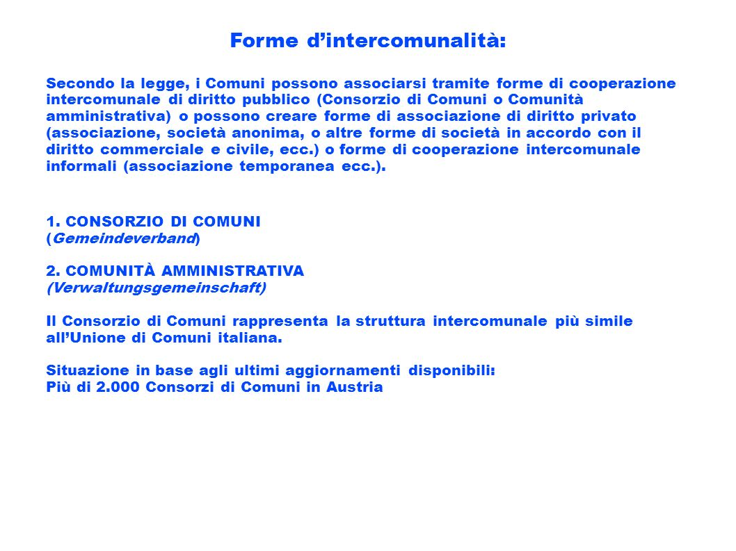 Forme d'intercomunalità: