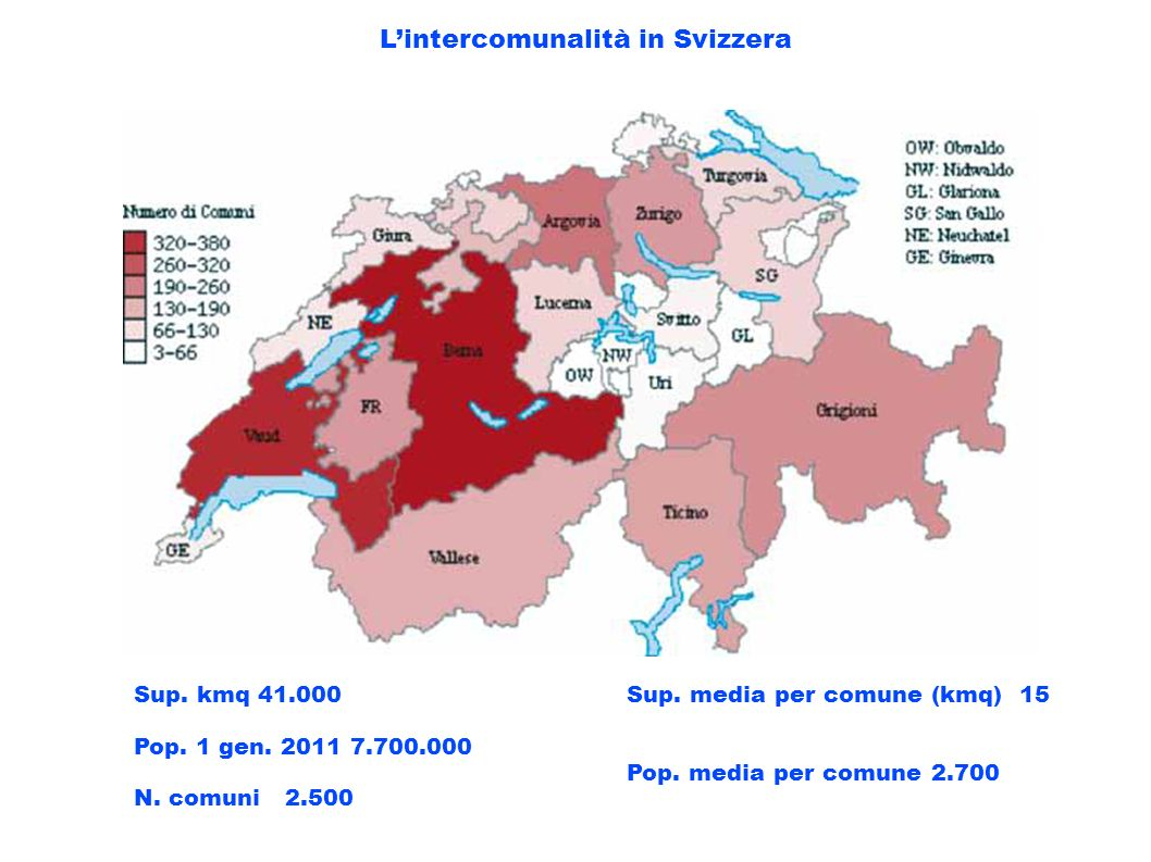 L'intercomunalità in Svizzera