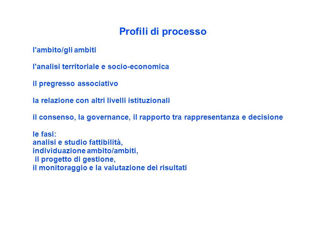 Profili di processo l ambito/gli ambiti