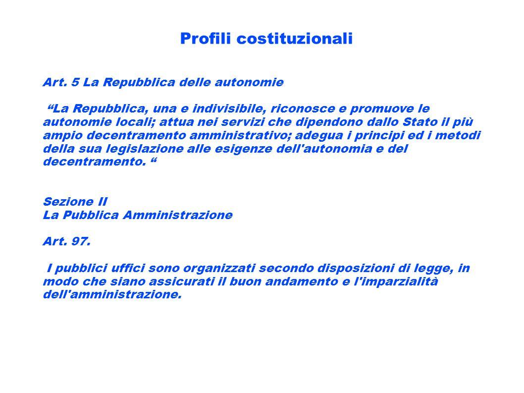 Profili costituzionali