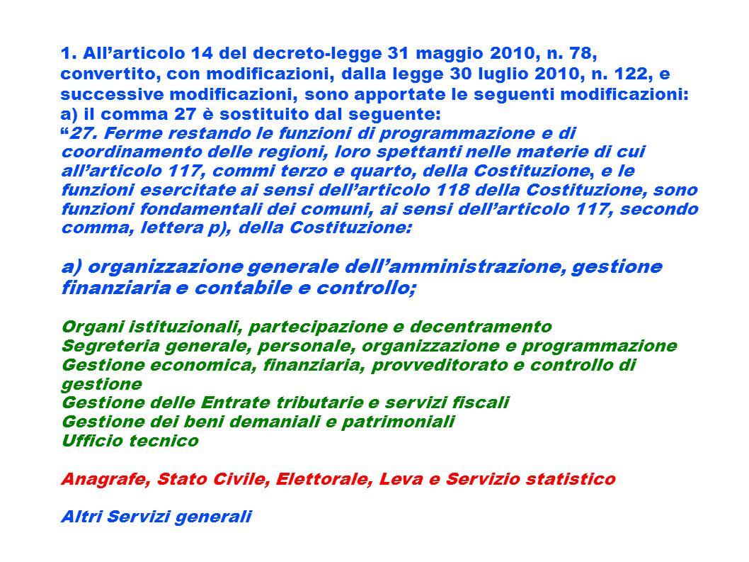 1. All'articolo 14 del decreto-legge 31 maggio 2010, n