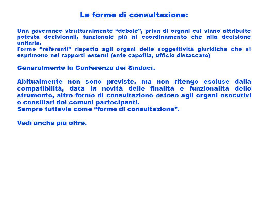 Le forme di consultazione: