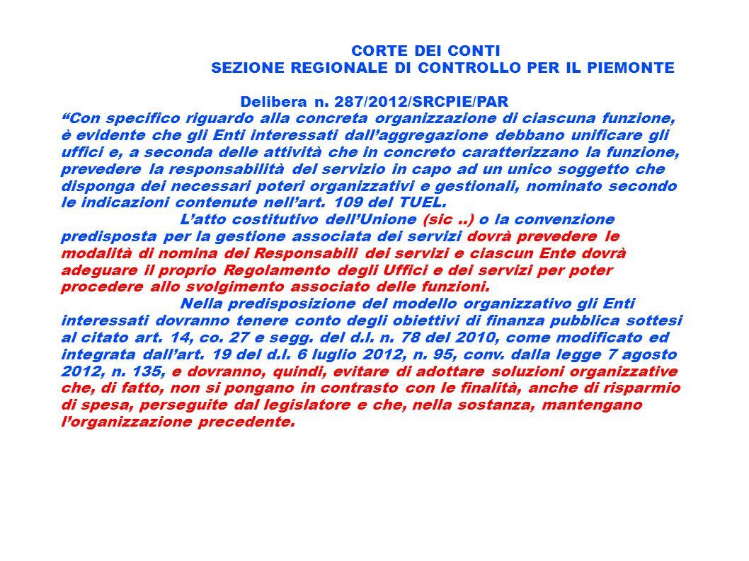 SEZIONE REGIONALE DI CONTROLLO PER IL PIEMONTE