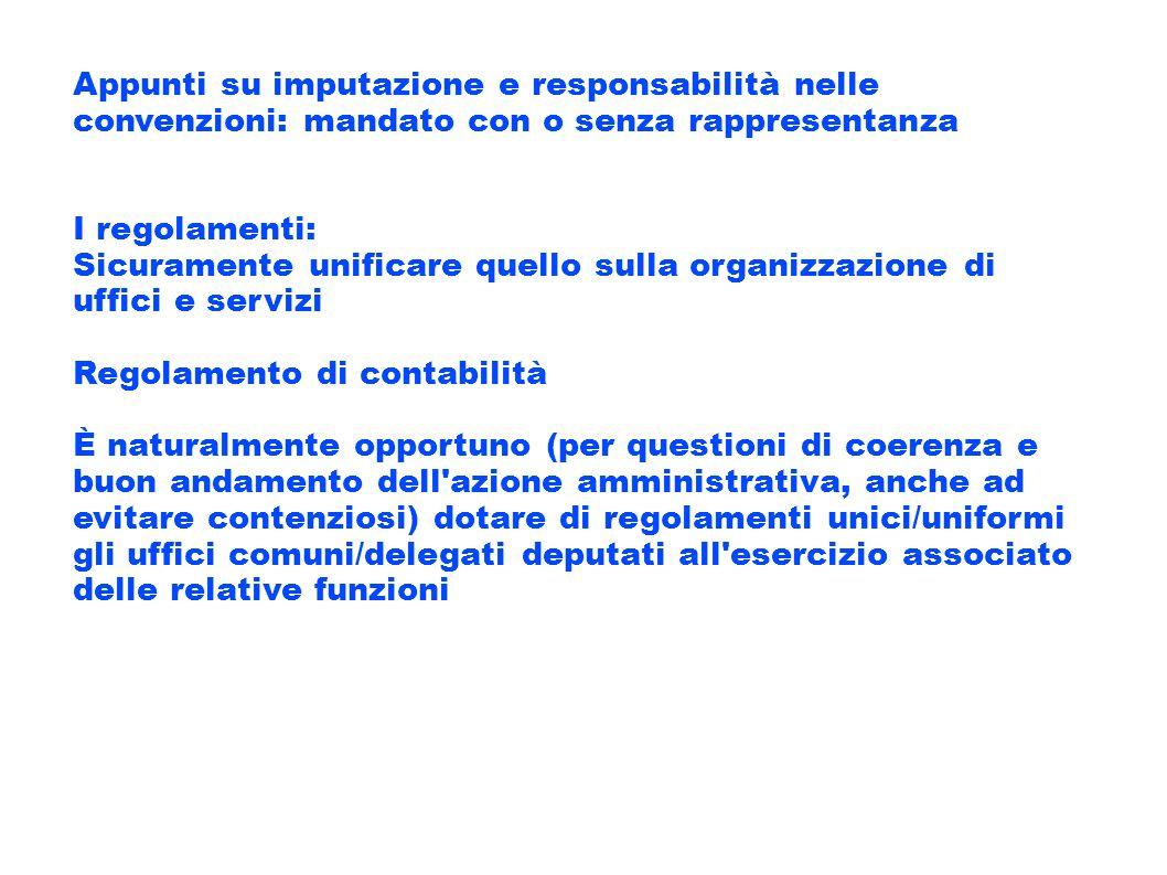 Appunti su imputazione e responsabilità nelle convenzioni: mandato con o senza rappresentanza