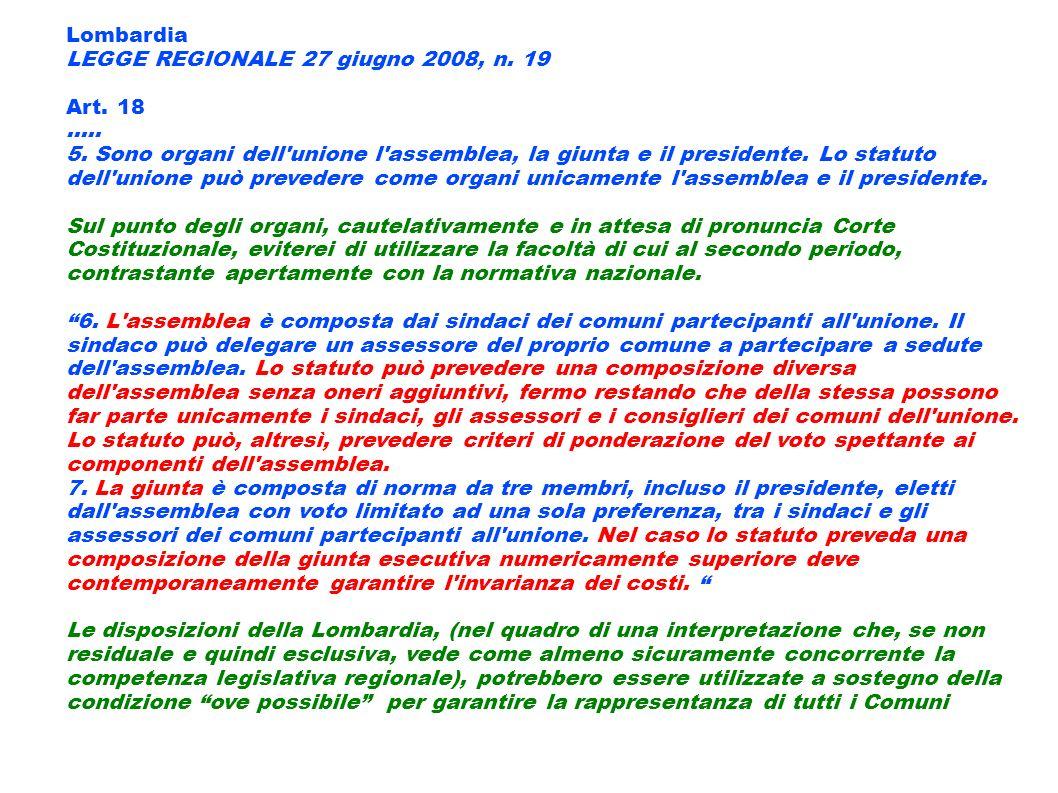 Lombardia LEGGE REGIONALE 27 giugno 2008, n. 19. Art. 18. .....