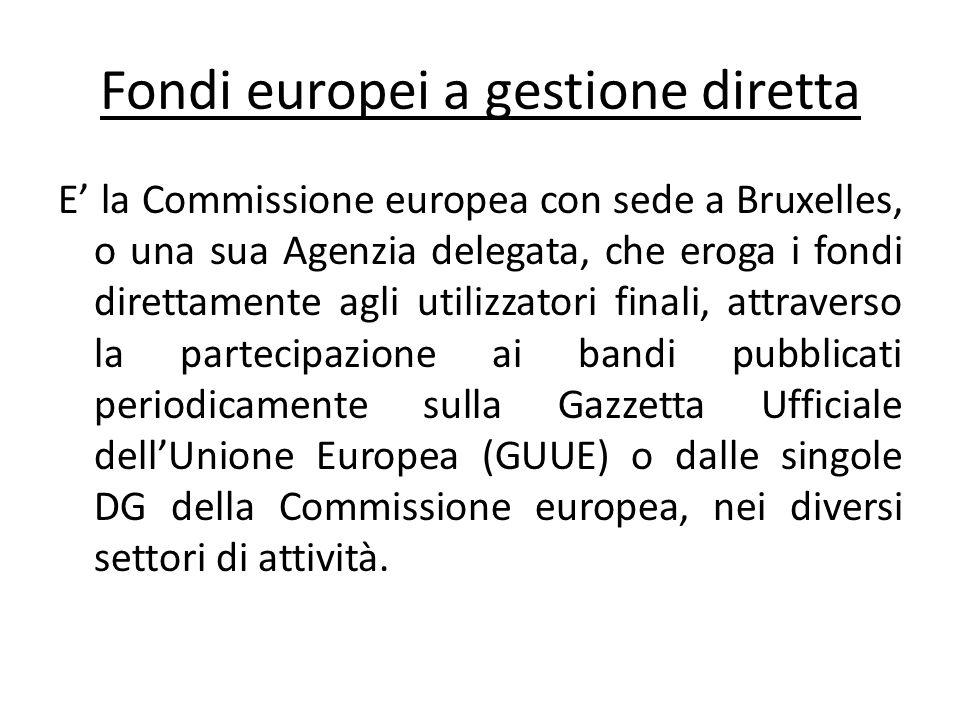Fondi europei a gestione diretta