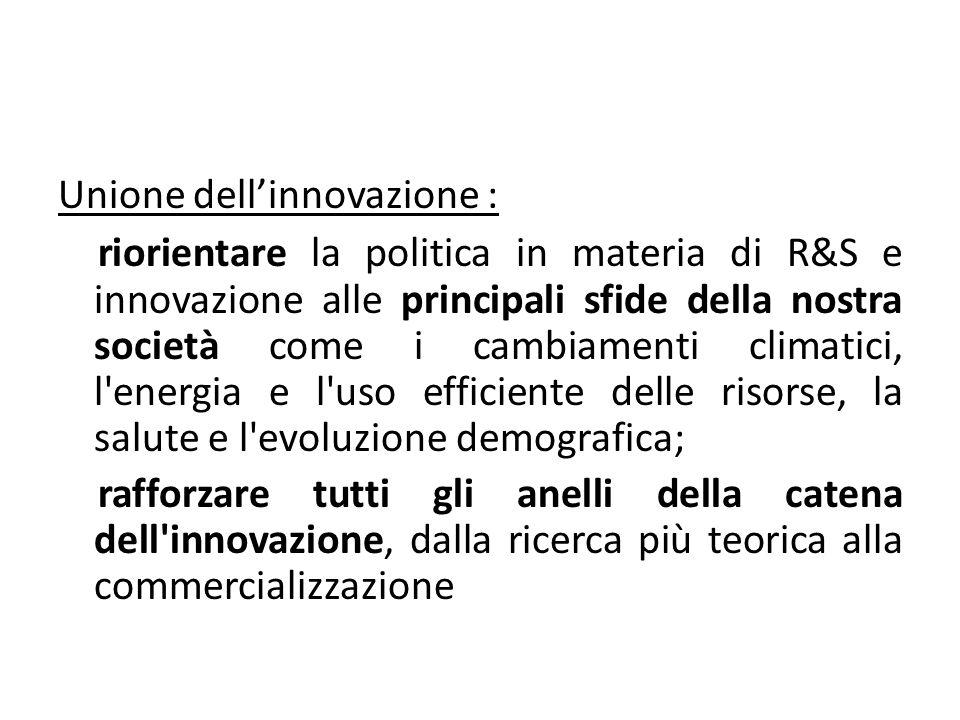 Unione dell'innovazione :