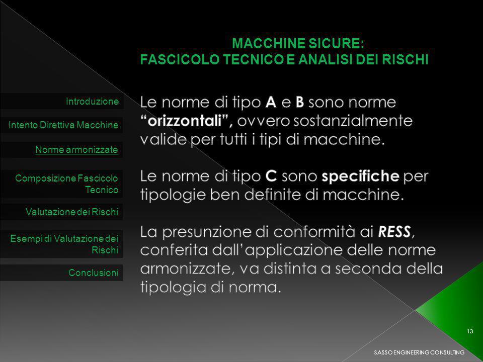 MACCHINE SICURE: FASCICOLO TECNICO E ANALISI DEI RISCHI.