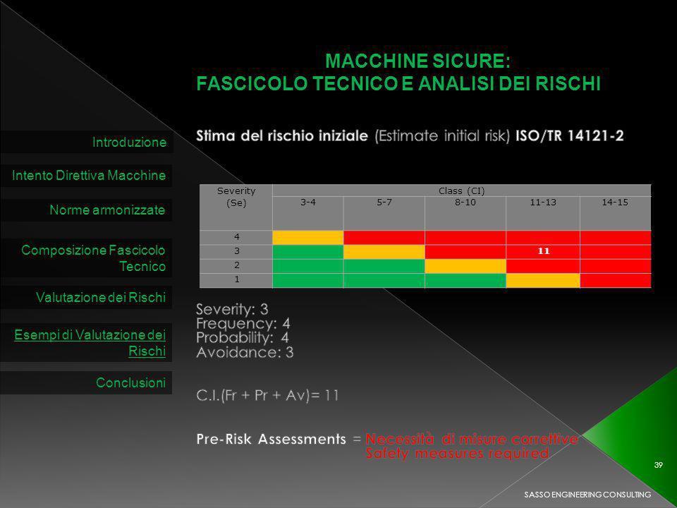 FASCICOLO TECNICO E ANALISI DEI RISCHI