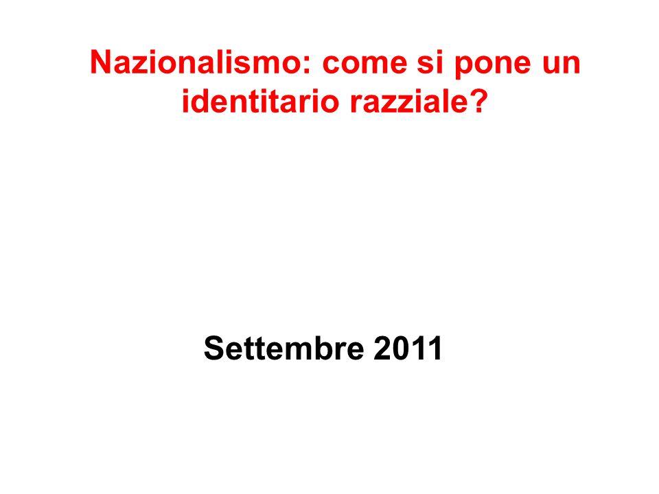 Nazionalismo: come si pone un identitario razziale