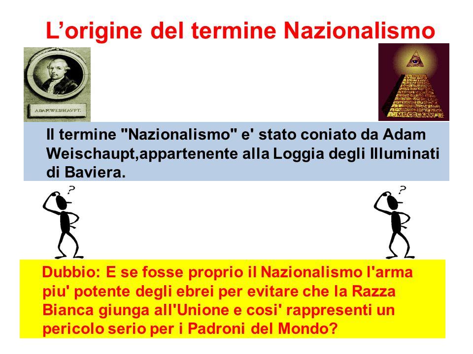 L'origine del termine Nazionalismo