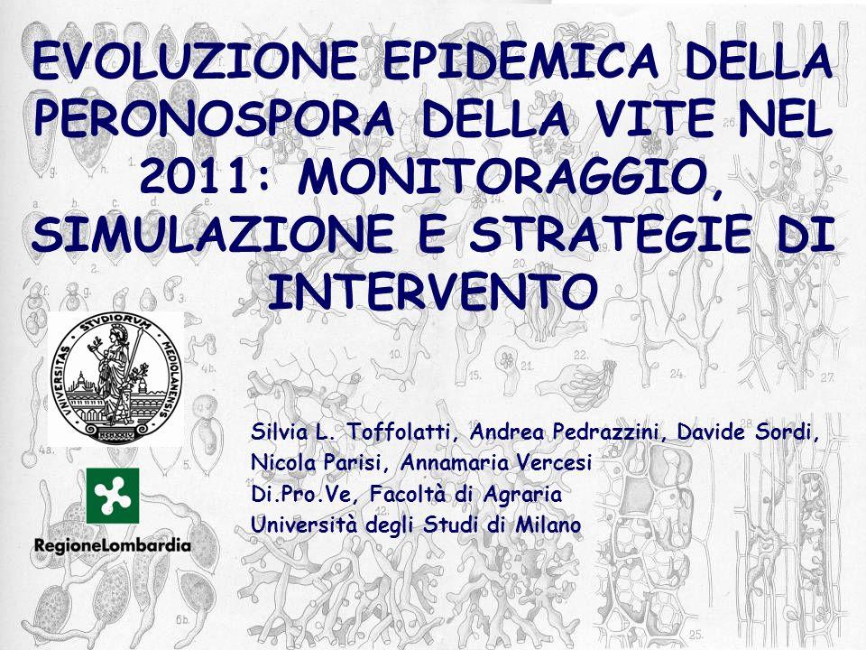 Evoluzione epidemica della peronospora della vite nel 2011: monitoraggio, simulazione e strategie di intervento