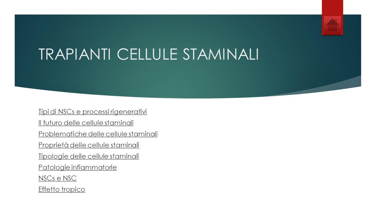 TRAPIANTI CELLULE STAMINALI