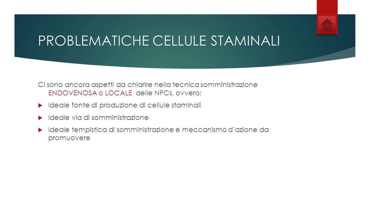 PROBLEMATICHE CELLULE STAMINALI
