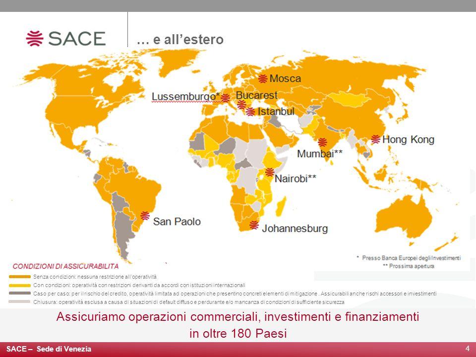 Assicuriamo operazioni commerciali, investimenti e finanziamenti