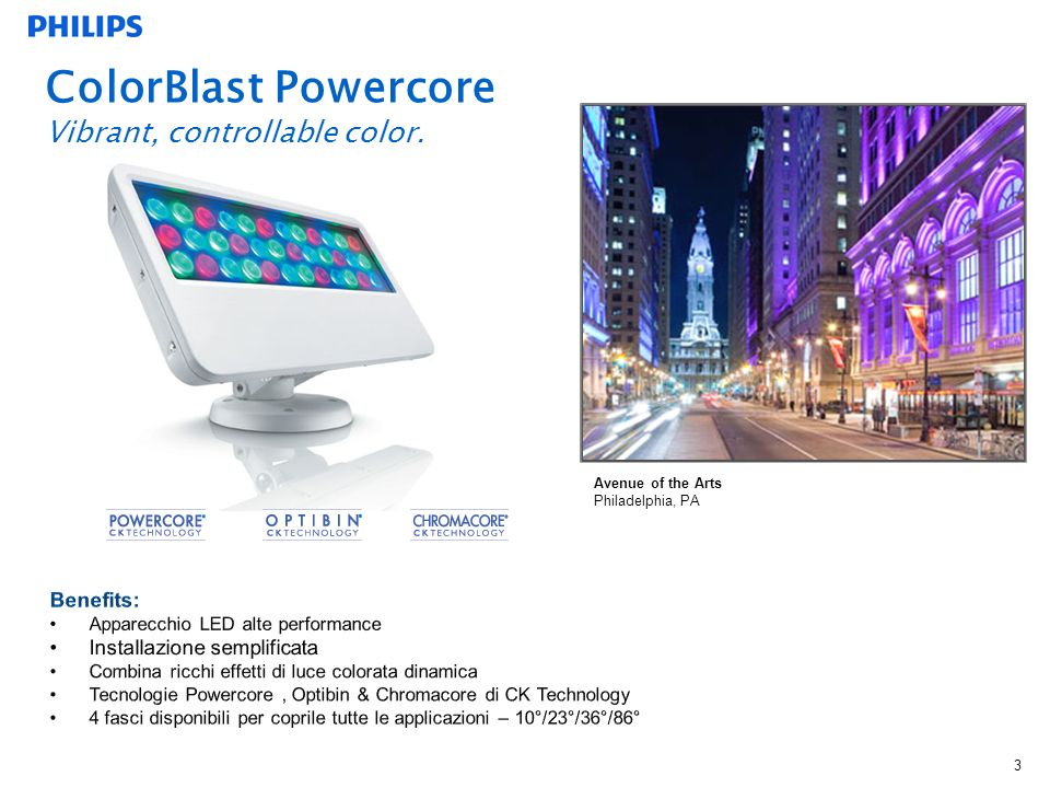 ColorBlast Powercore Vibrant, controllable color.