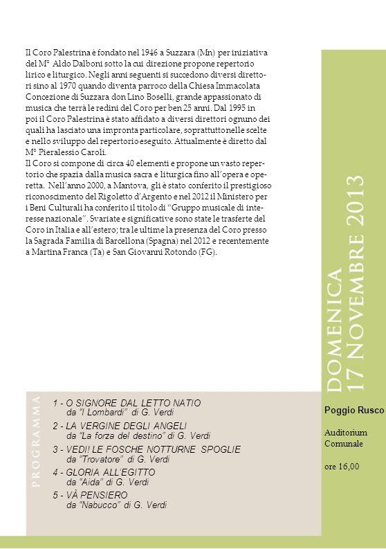 1 - O SIGNORE DAL LETTO NATIO da I Lombardi di G. Verdi