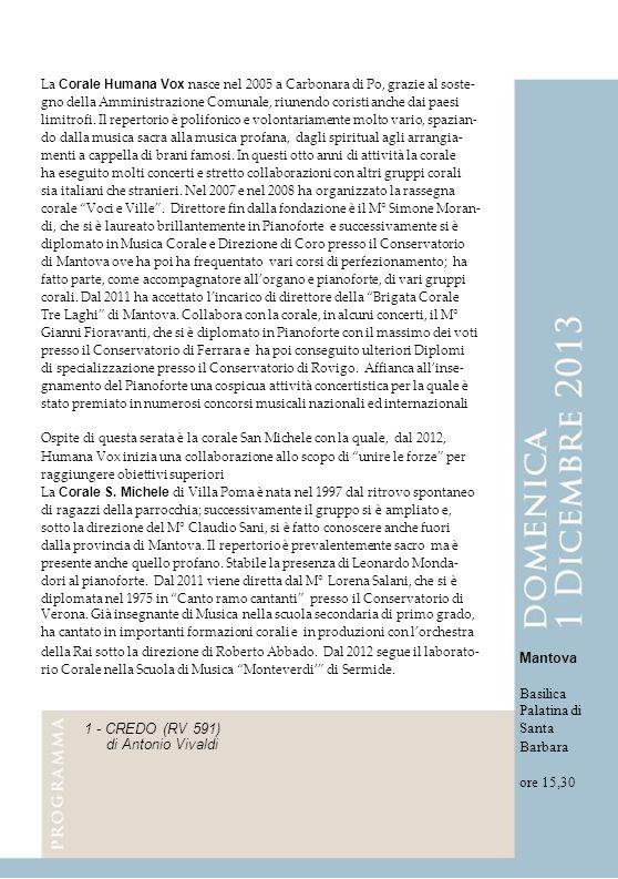 1 - CREDO (RV 591) di Antonio Vivaldi