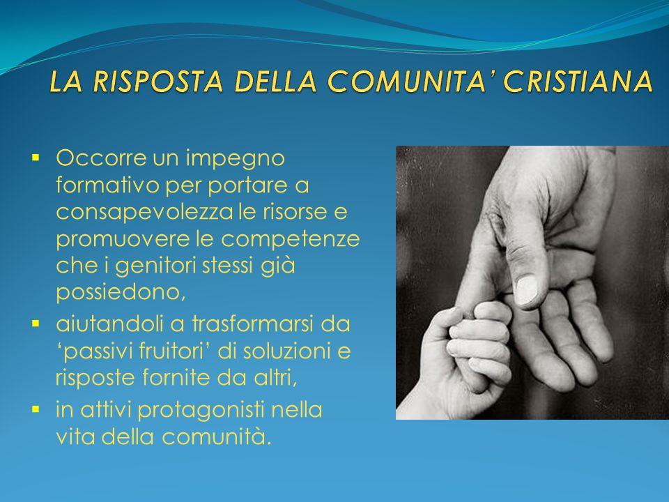 LA RISPOSTA DELLA COMUNITA' CRISTIANA