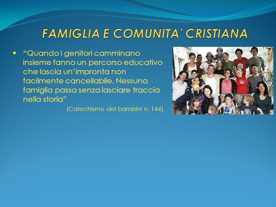 FAMIGLIA E COMUNITA' CRISTIANA