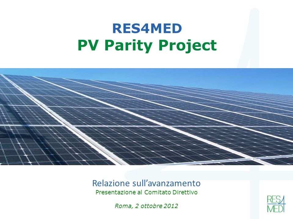 RES4MED PV Parity Project