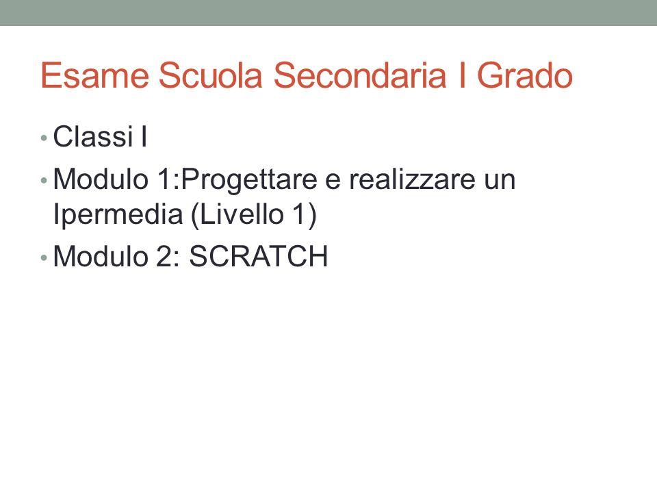 Esame Scuola Secondaria I Grado