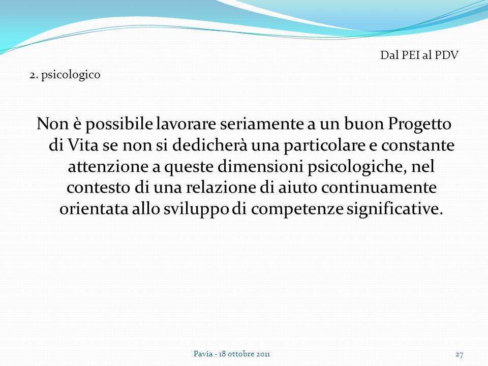 Dal PEI al PDV 2. psicologico.