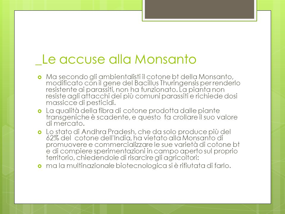 _Le accuse alla Monsanto