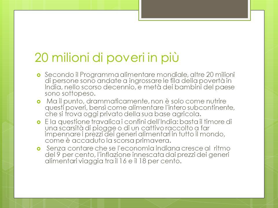 20 milioni di poveri in più