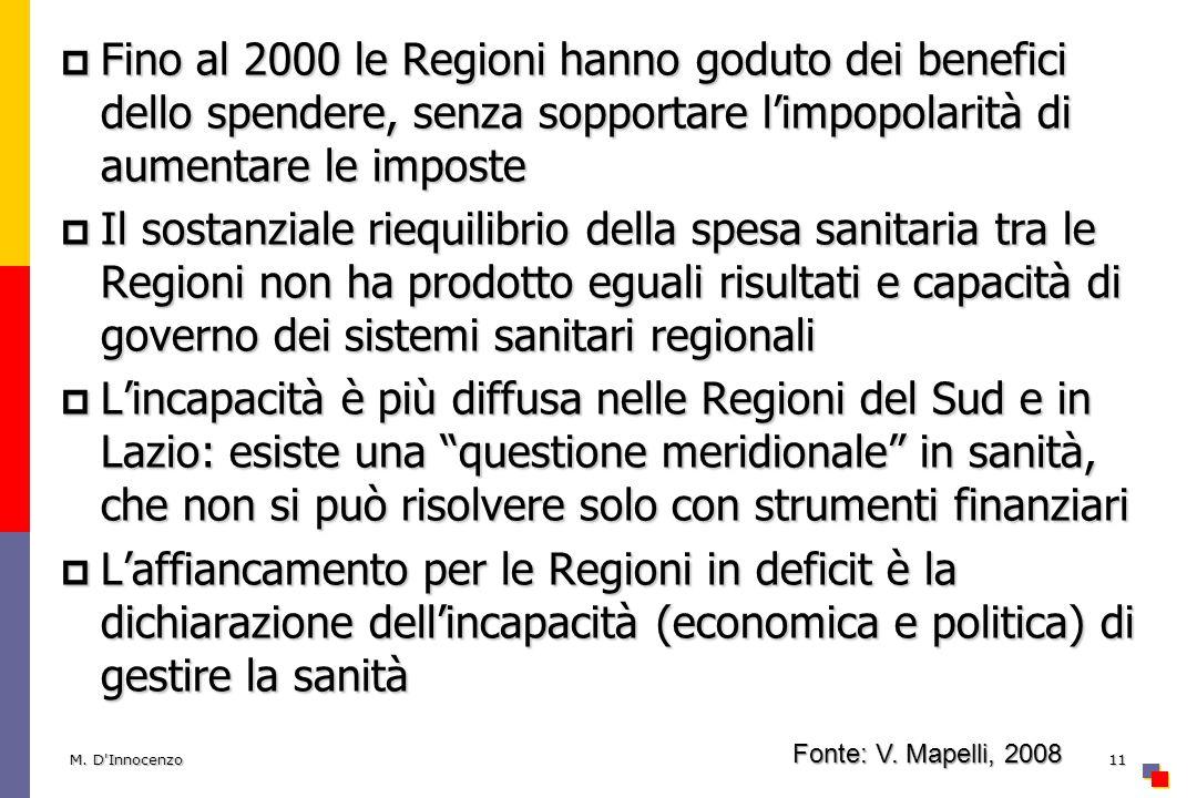 Fino al 2000 le Regioni hanno goduto dei benefici dello spendere, senza sopportare l'impopolarità di aumentare le imposte