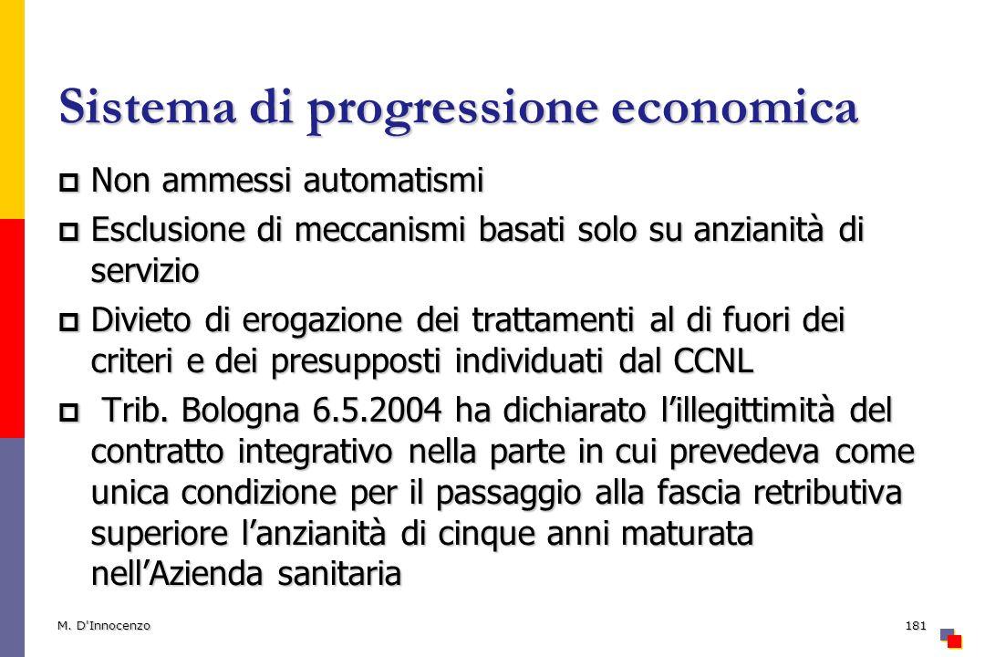 Sistema di progressione economica