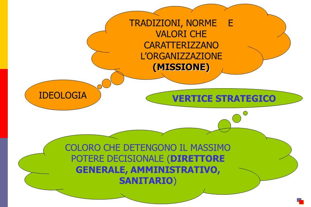 TRADIZIONI, NORME E VALORI CHE CARATTERIZZANO L'ORGANIZZAZIONE