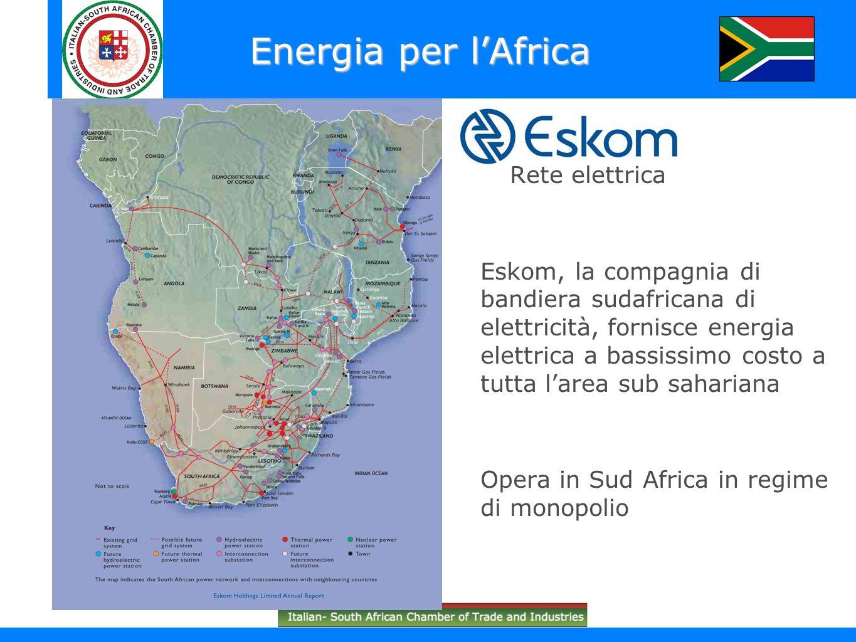 Energia per l'Africa Rete elettrica