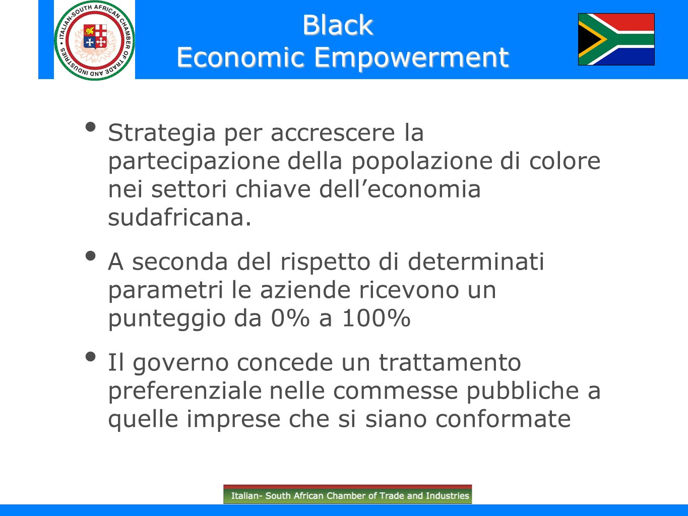 Black Economic Empowerment