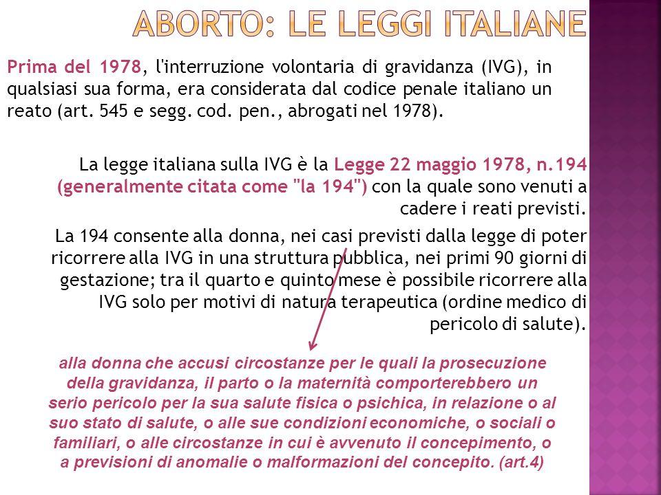 ABORTO: le leggi italiane