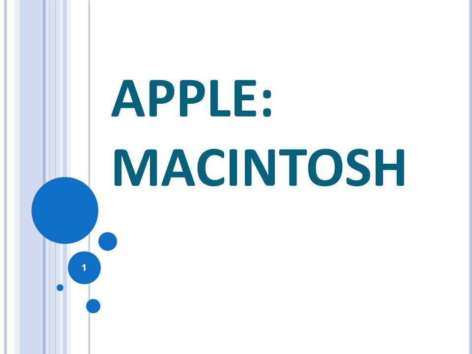 APPLE: MACINTOSH