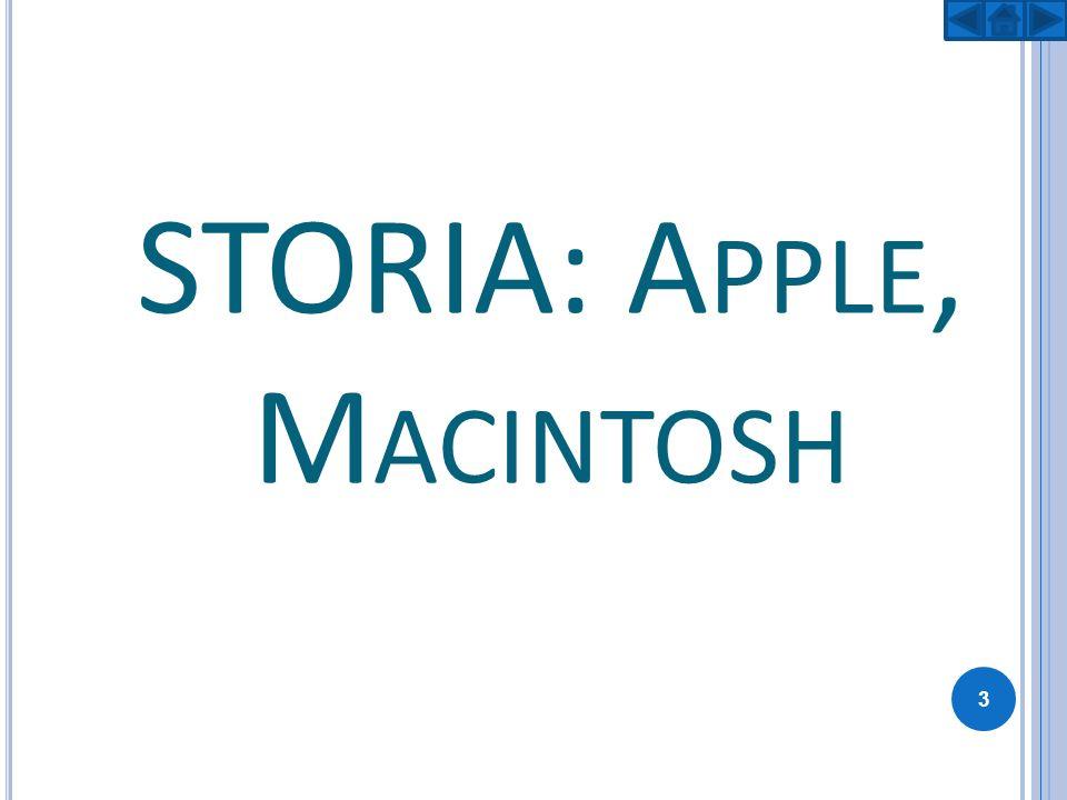 STORIA: Apple, Macintosh
