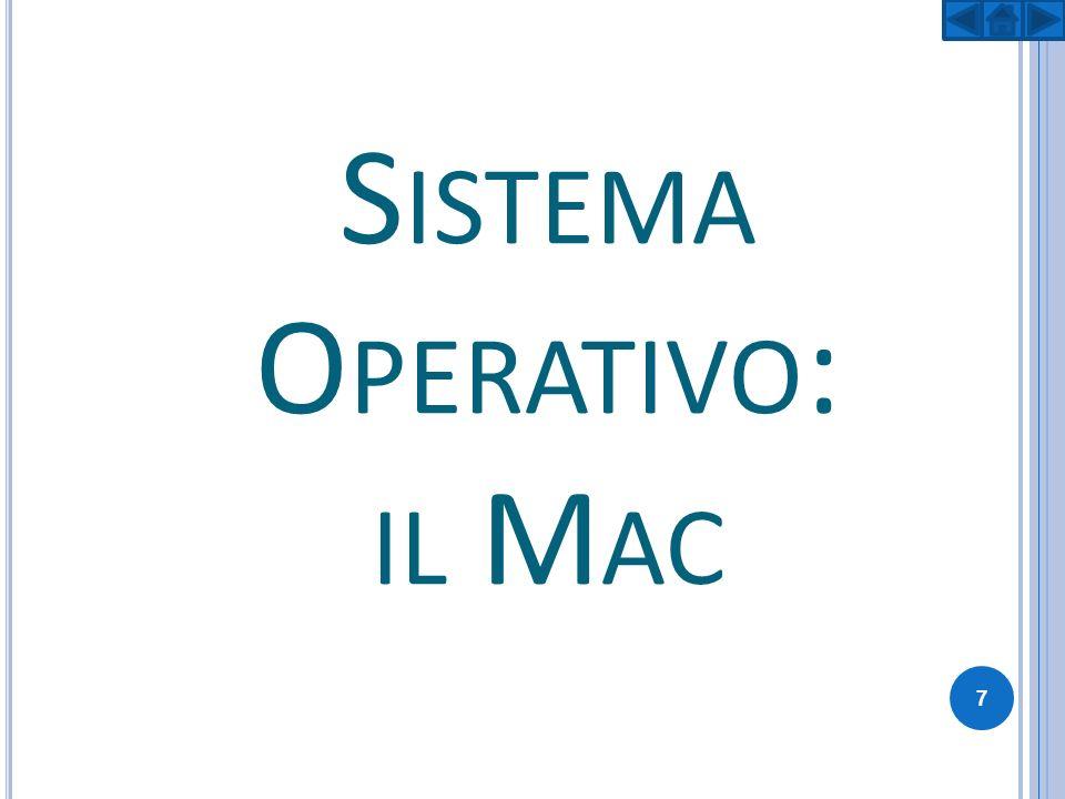 Sistema Operativo: il Mac
