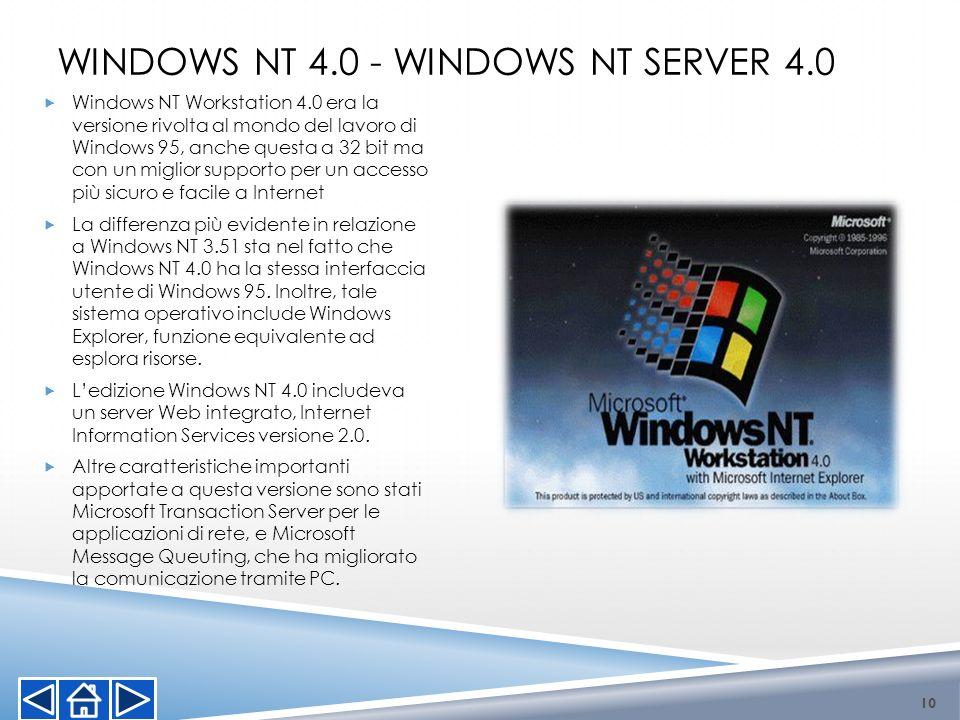 Windows NT 4.0 - Windows NT Server 4.0